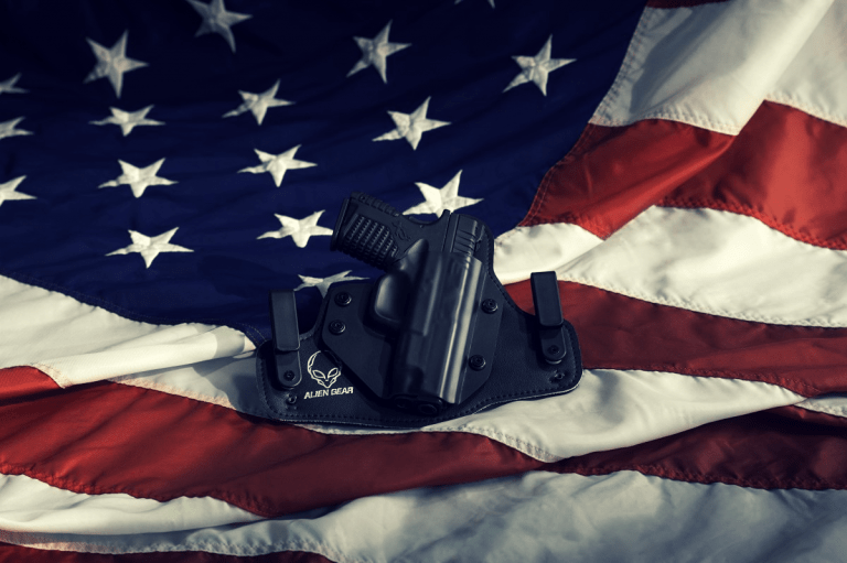 conceal carry holster on american flag