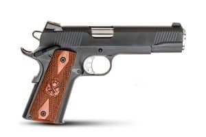 SPRINGFIELD ARMORY 1911 LOADED .45 ACP PARKERIZED PISTOL WITH TRIJICON NIGHT SIGHTS - PX9109L